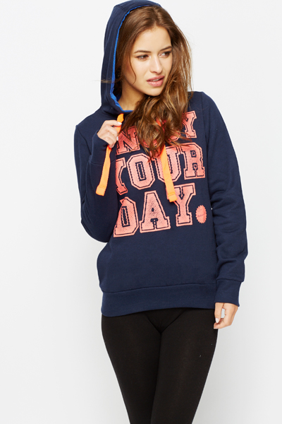 Enjoy Your Day Slogan Sweatshirt