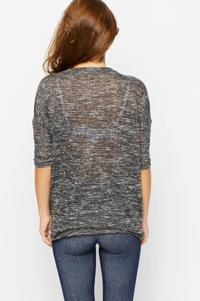 Dipped Hem Speckle Top