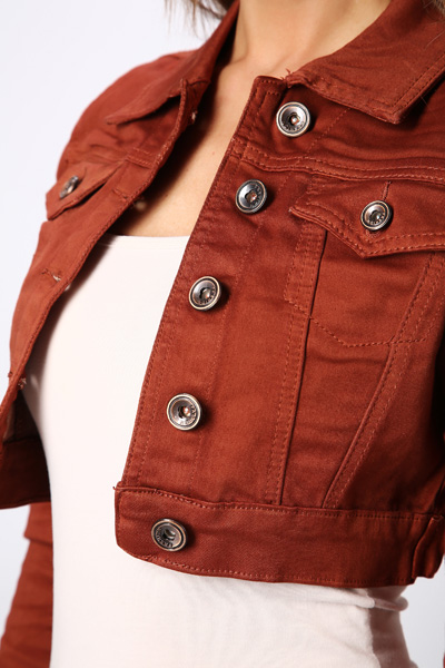 Cropped Denim Rust Jacket