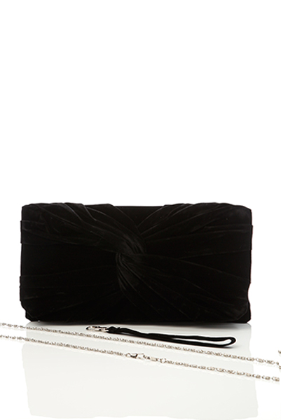Twisted Velour Knot Clutch