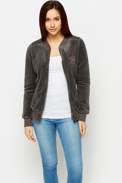 Cosy Fleece Zip Front Jacket