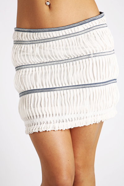 Shirred Effect Mini Skirt