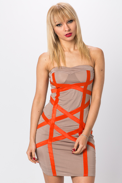 Criss Cross Bandeau Dress