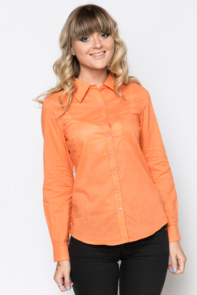 Contrast Elbow Patch Shirt