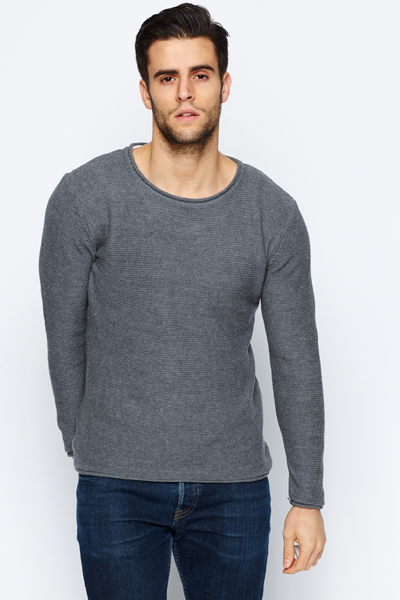 Perforated Cotton Jumper