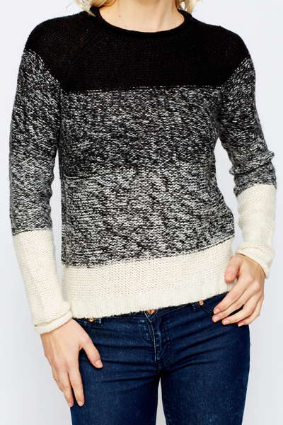 Two Tone Speckle Knit Jumper
