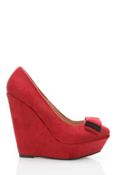 Bow Detail Platform Wedge Heels