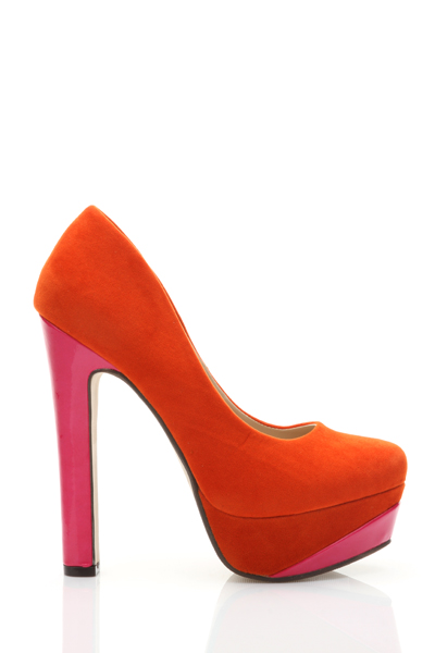 Velour Colour Platform Shoes