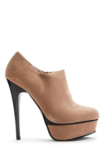 Zip Side Platform Ankle Heels