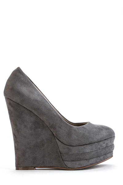 Platform Wedge Suedette Shoes