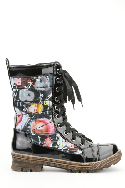 Padded Graphic Boots