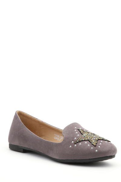 Embellished Star Slip-On Flats