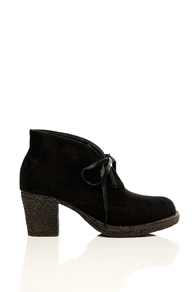 Heeled Suedette Boots