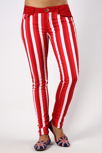 Striped Panel Trousers
