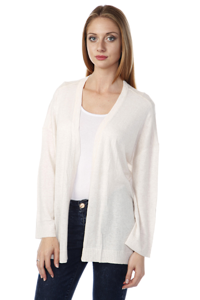 Fine Knit Open Front Cardigan