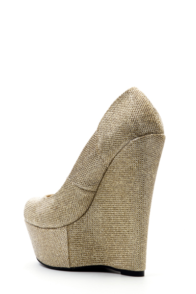 Shimmer Lurex Wedge Heels