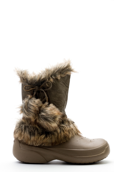 Faux Fur Trim Drawstring Boots