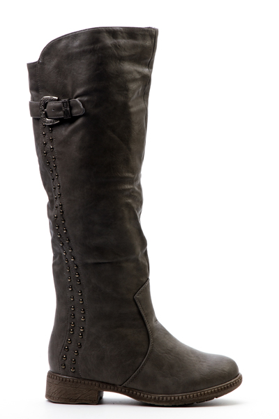Zip Side Knee High Boots