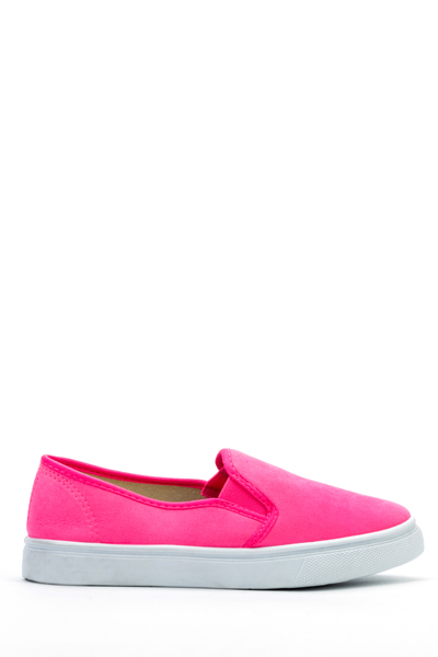 Suedette Slip-On Flats