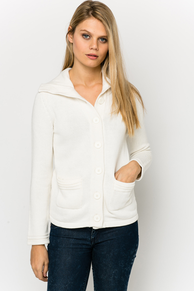 Collared Button Front Cardigan