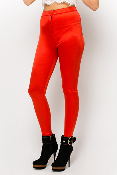 Bonded Satin Trousers