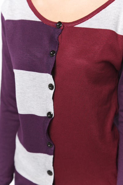 Multicolour Panel Cardigan