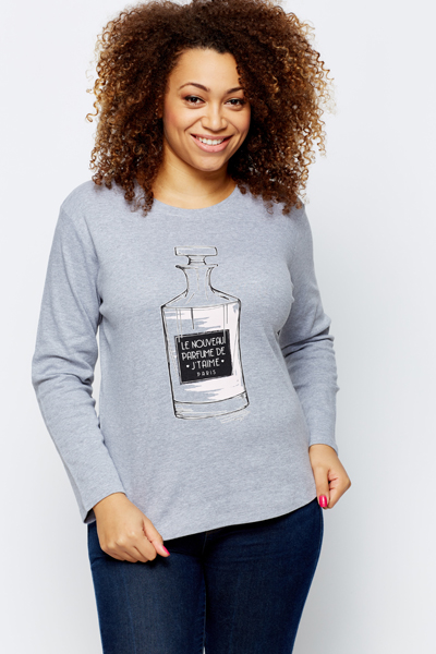 Perfume Print Pullover