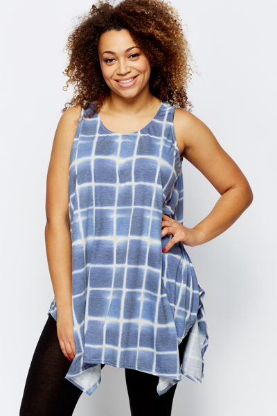 Ombre Graphic Sleeveless Tunic