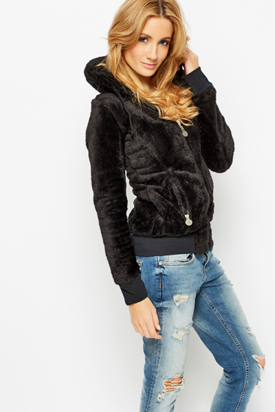 Cosy Fleece Hooded Jacket