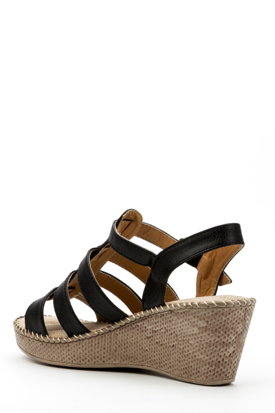 Textured Wedge Sandals