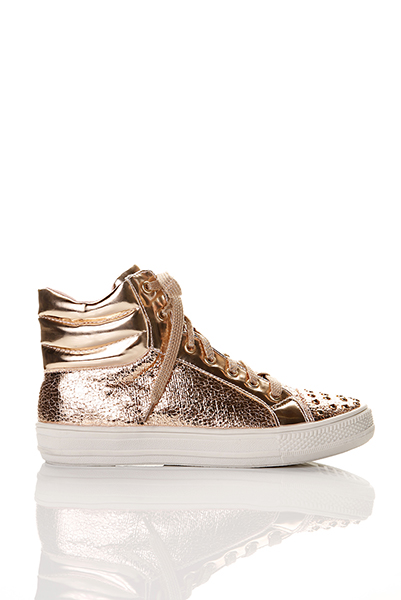 Studded Toe Metal Flake Trainers