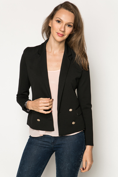 Double Breasted Textured Blazer