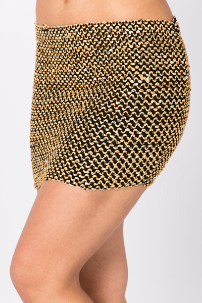 Sequined Disco Mini Skirt
