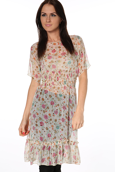 Sheer Midi Kaftan Dress
