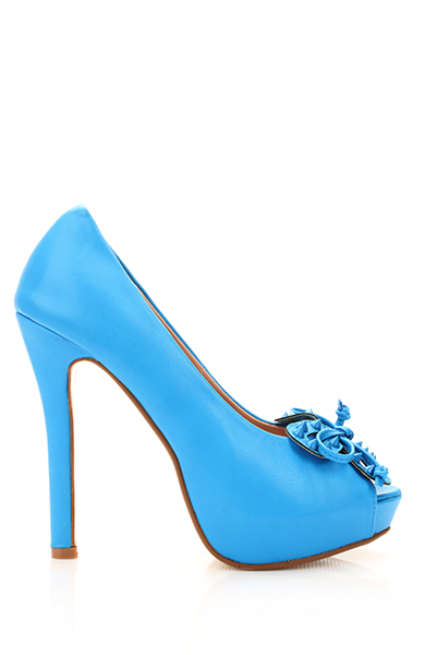 Studded Butterfly Peep Toe Shoes