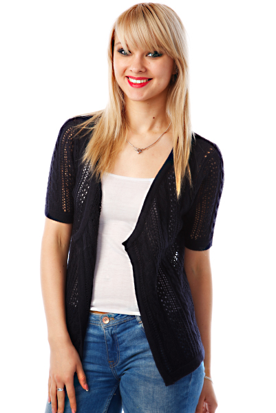 Crochet Braid Knit Cardigan