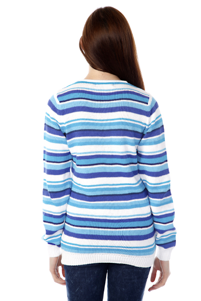 Nautical Mixed Stripes Pullover