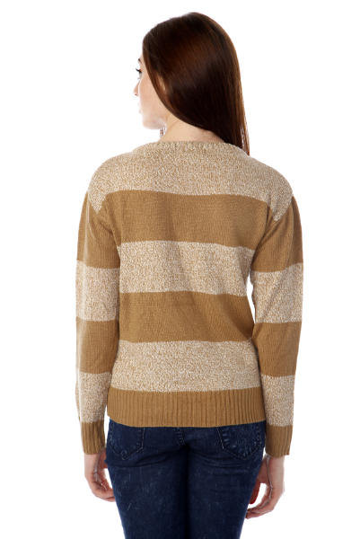 Speckled Stripe Pullover