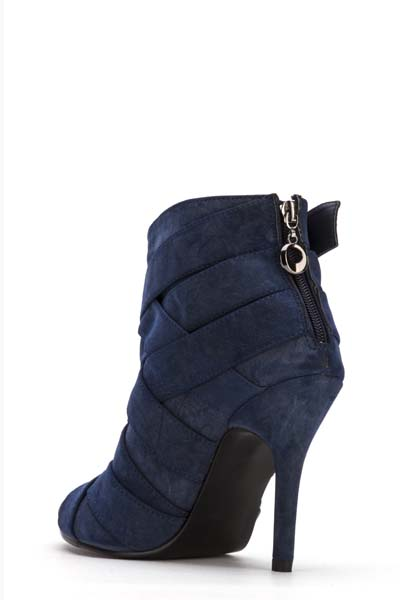 Criss Cross Suedette Ankle Boots