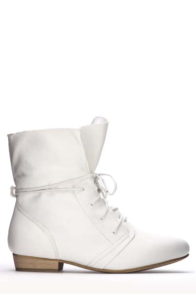 Ruched Toe Lace Up Boots
