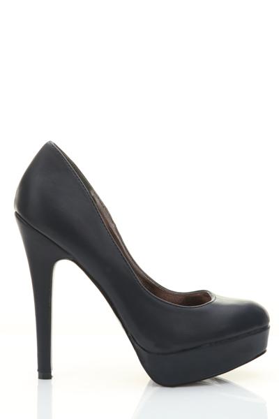 e4cb51551c1 Faux Leather Platform Heels