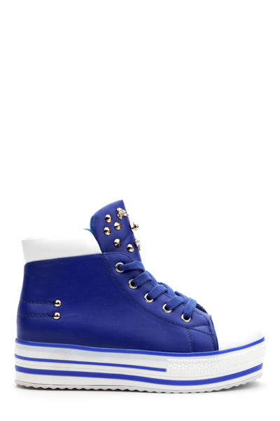 Skull Studded Hi-Top Trainers