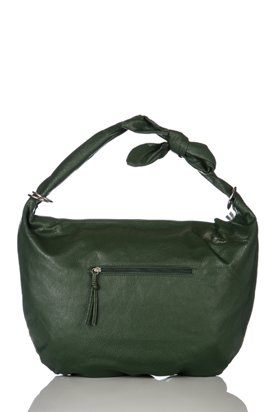 2224cf12c0 Zip Front Green Slouch Handbag - Just £5