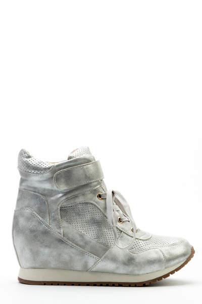 Metallic Hi-Top Shoes