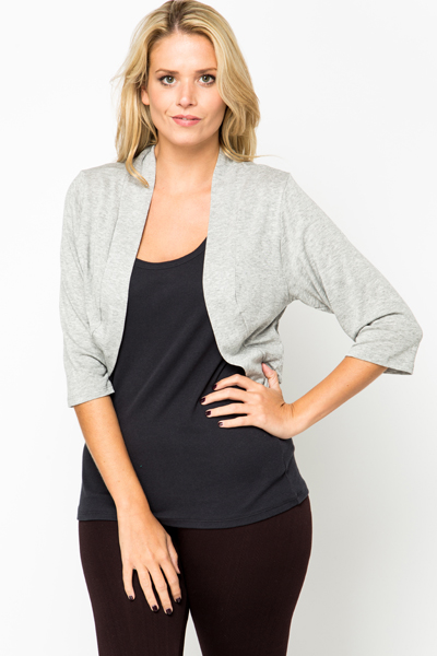Open Front Crop Cardigan
