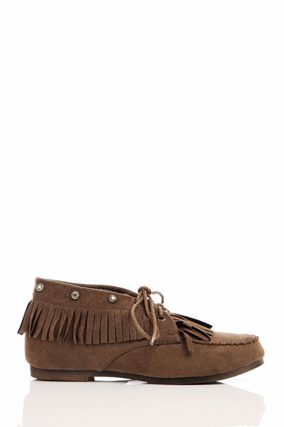 Fringed Moccasin Flat Shoes
