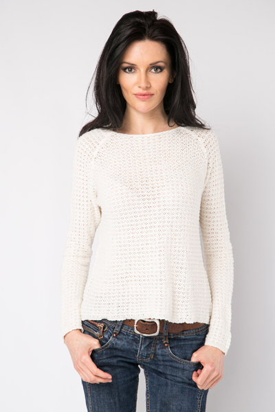 Casual Open Knit Pullover