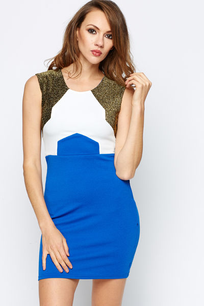 Metallic Geo Colour Block Dress
