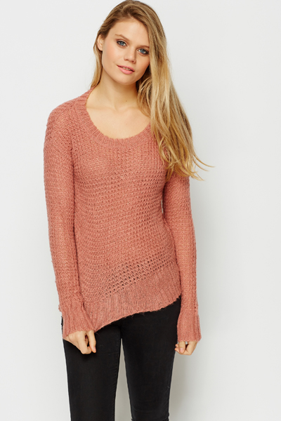 Metallic Blend Loose Knit Jumper