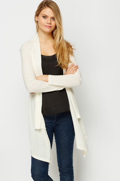 White Waterfall Cardigan - Just £5